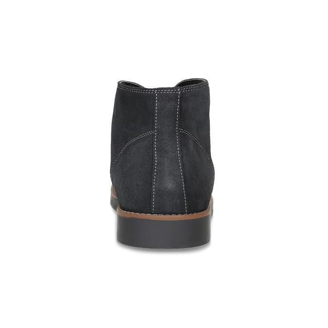 Pánska členková modrá kožená obuv flexible, modrá, 823-2632 - 15