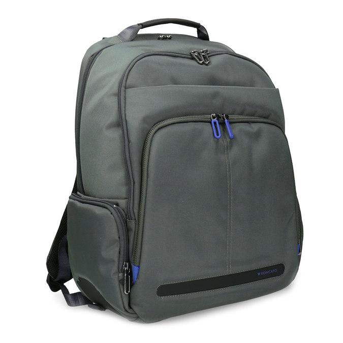 Šedý batoh s vreckom na notebook roncato, šedá, 969-2741 - 13
