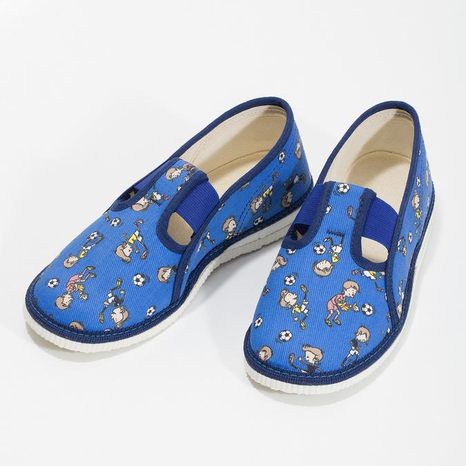 Modré detské prezuvky so vzorom bata, modrá, 179-9213 - 16