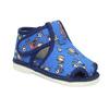 Členkové modré prezuvky so vzorom bata, modrá, 179-9212 - 13