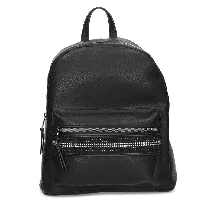 Čierny dámsky batoh s kamienkami bata, čierna, 961-6867 - 26