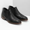 Pánske čierne Chelsea kožené bata, čierna, 826-6504 - 26