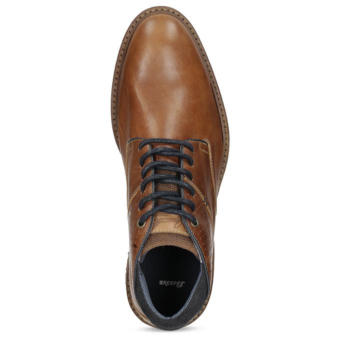 Hnedá členková kožená pánska obuv bata, hnedá, 826-3505 - 17