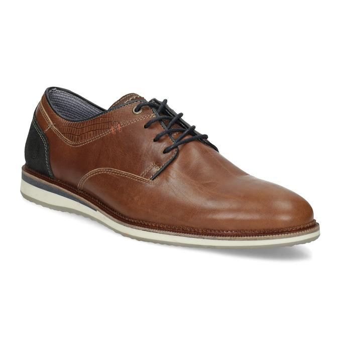Kožené hnedé pánske poltopánky bata, hnedá, 826-3506 - 13