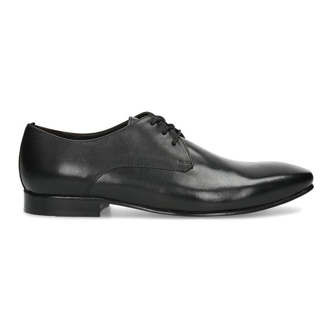 Čierne kožené poltopánky v Derby strihu bata, čierna, 824-6606 - 19