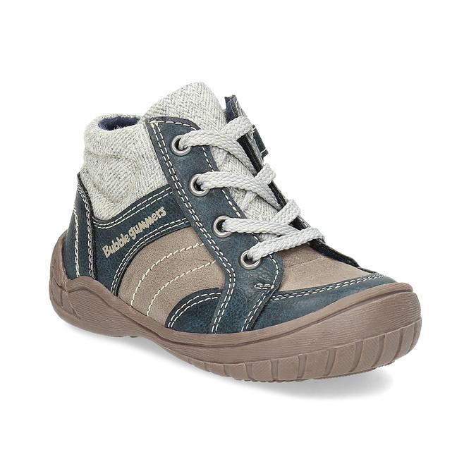 Detská členková obuv s teplou podšívkou bubblegummers, šedá, 111-2627 - 13