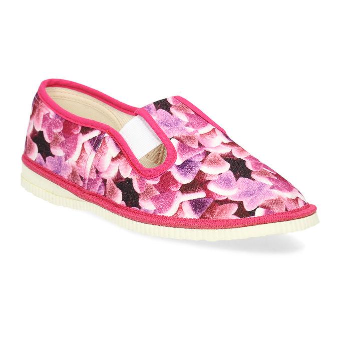 Ružové detské prezuvky so vzorom bata, ružová, 379-9123 - 13