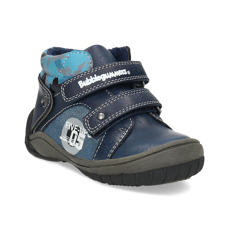 f5bd5df8194b7 Detské modré členkové topánky na suché zipsy bubblegummers, modrá, 111-9628  - 13 ...