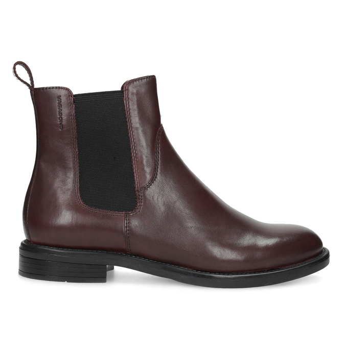 Hnedá kožená dámska Chelsea obuv vagabond, hnedá, 516-4130 - 19