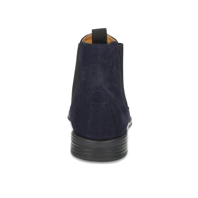 Tmavomodrá kožená pánska Chelsea obuv vagabond, modrá, 813-6153 - 15