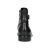 Kožená dámska členková obuv s prackou vagabond, čierna, 514-6140 - 15