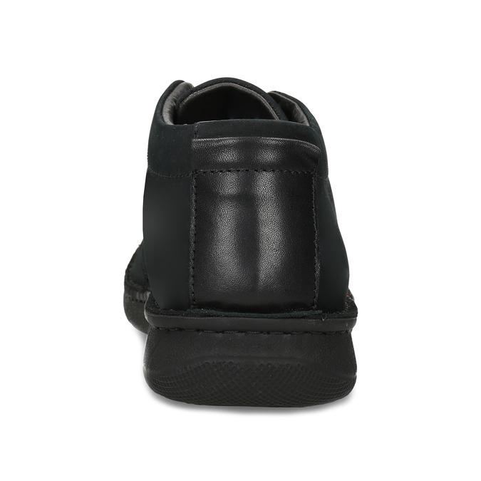 Pánska členková obuv z brúsenej kože bata, čierna, 846-6716 - 15
