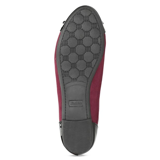 Vínové baleríny s lakovanou špičkou a pätou bata, červená, 529-5640 - 18