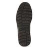 Kožená pánska členková obuv s prešitím bata, šedá, 843-2640 - 18