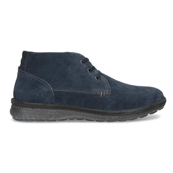 Modrá kožená pánska členková obuv bata, modrá, 843-9640 - 19