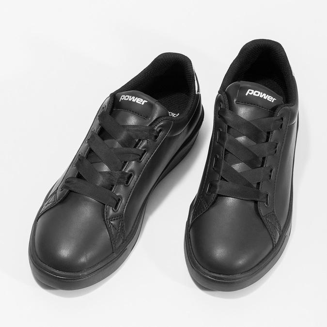 Čierne dámske tenisky so striebornými detailami power, čierna, 501-6168 - 16