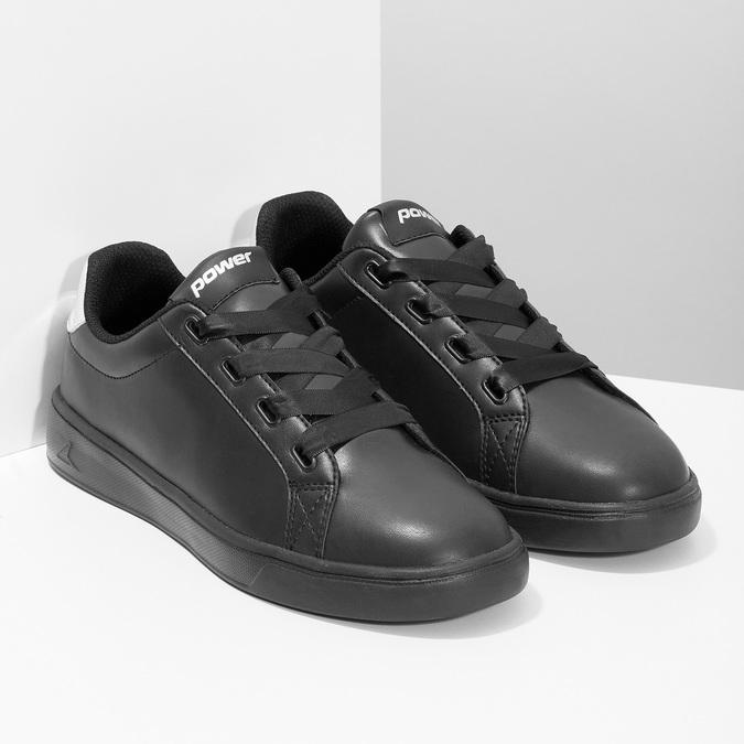 Čierne dámske tenisky so striebornými detailami power, čierna, 501-6168 - 26