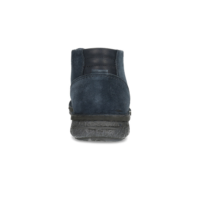 Modrá kožená pánska členková obuv bata, modrá, 843-9640 - 15
