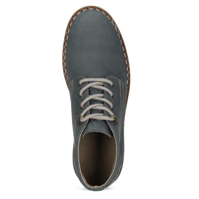 Pánska kožená členková modrá obuv weinbrenner, modrá, 846-9658 - 17