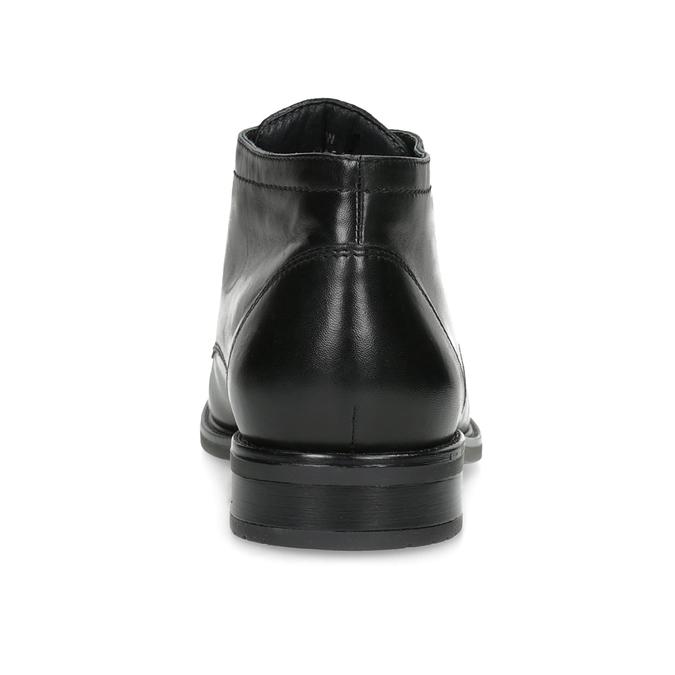 Kožená pánska členková obuv bata, čierna, 824-6893 - 15