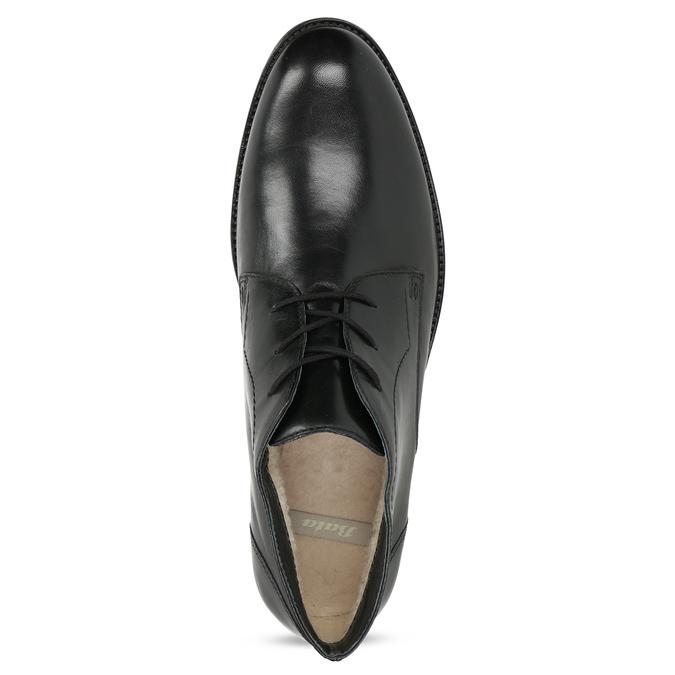 Kožená pánska členková obuv bata, čierna, 824-6893 - 17