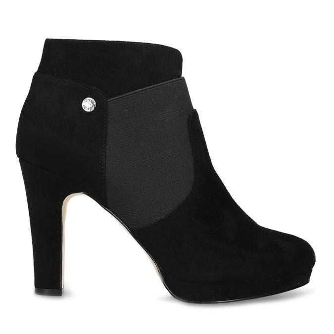 Členkové čierne čižmy na ihličkovom podpätku bata, čierna, 799-6624 - 19
