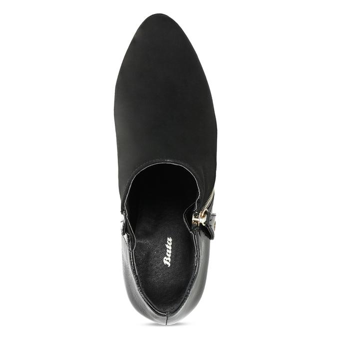 Dámska členková obuv na ihličkovom podpätku insolia, čierna, 799-6637 - 17