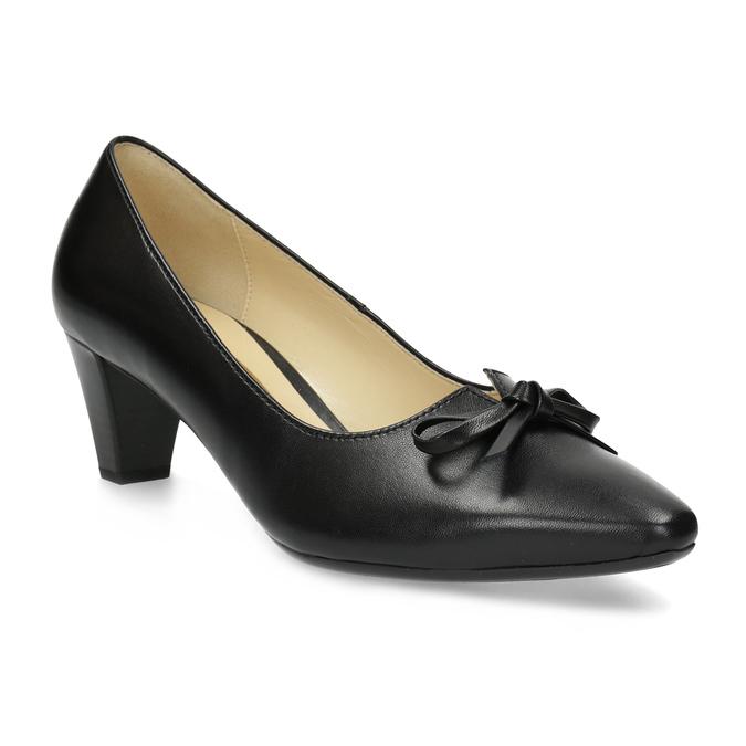 91345e58d27d Gabor Čierne kožené lodičky s mašľou - Všetky topánky