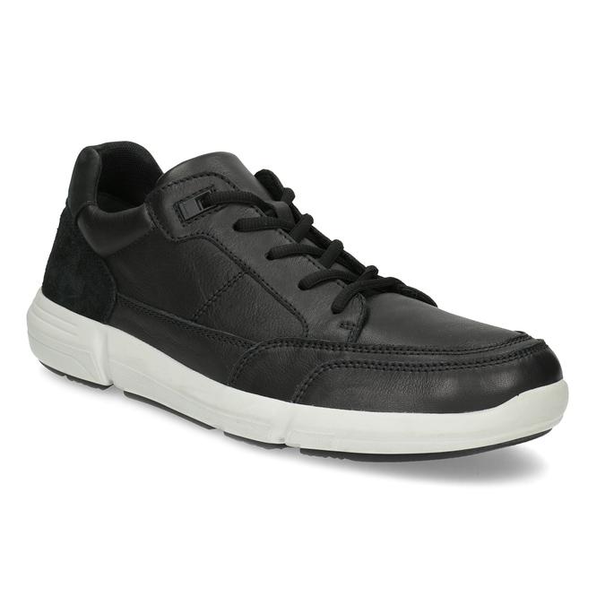 Čierne pánske tenisky s prešitím bata-light, čierna, 844-6647 - 13
