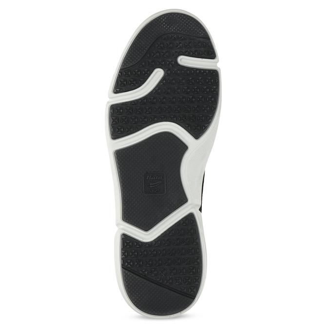 Čierne pánske tenisky s prešitím bata-light, čierna, 844-6647 - 18
