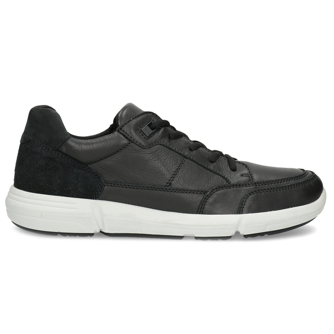 Čierne pánske tenisky s prešitím bata-light, čierna, 844-6647 - 19
