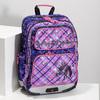 Školská aktovka s potlačou koní bagmaster, ružová, 969-9726 - 17