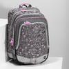 Šedá školská aktovka s ružovými detailami bagmaster, šedá, 969-2716 - 17