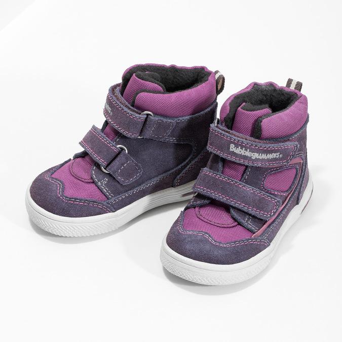 Členkové detské topánky s teplou podšívkou bubblegummers, fialová, 123-5610 - 16