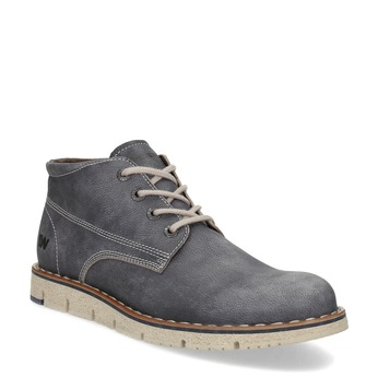 Pánska kožená členková obuv weinbrenner, modrá, 846-2658 - 13