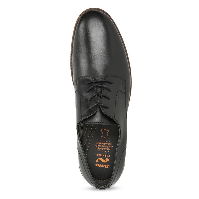 Kožené pánske čierne poltopánky flexible, čierna, 824-6768 - 17