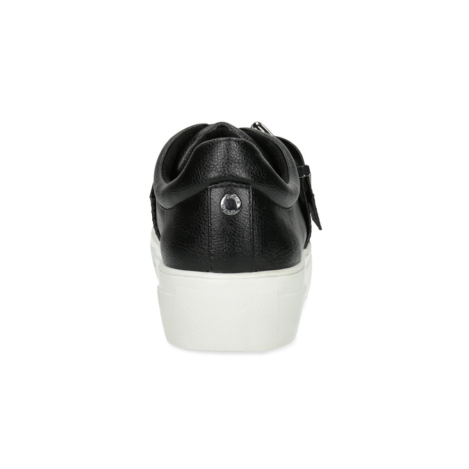 Čierne dámske tenisky s prackou bata-light, čierna, 541-6604 - 15