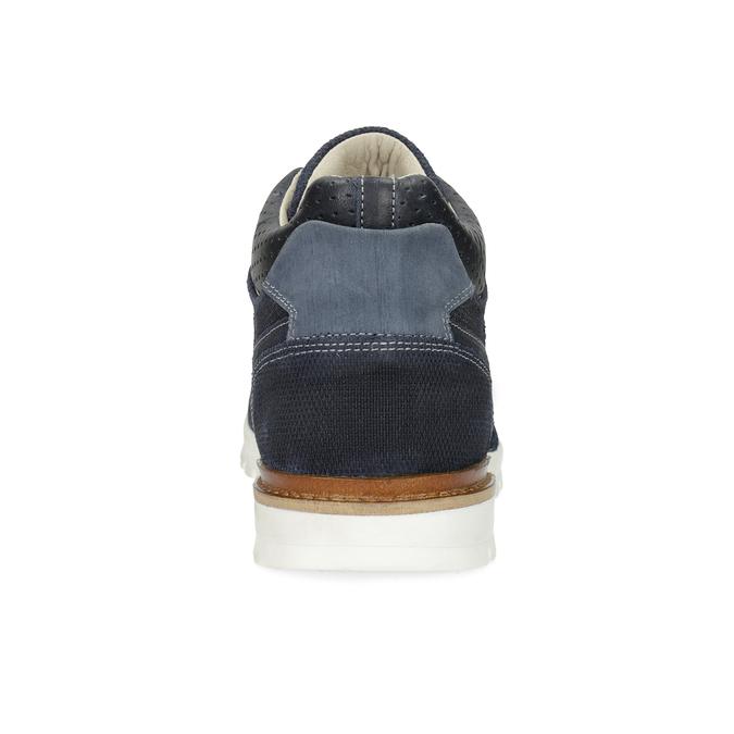 Tmavomodré kožené tenisky bata, modrá, 846-9717 - 15