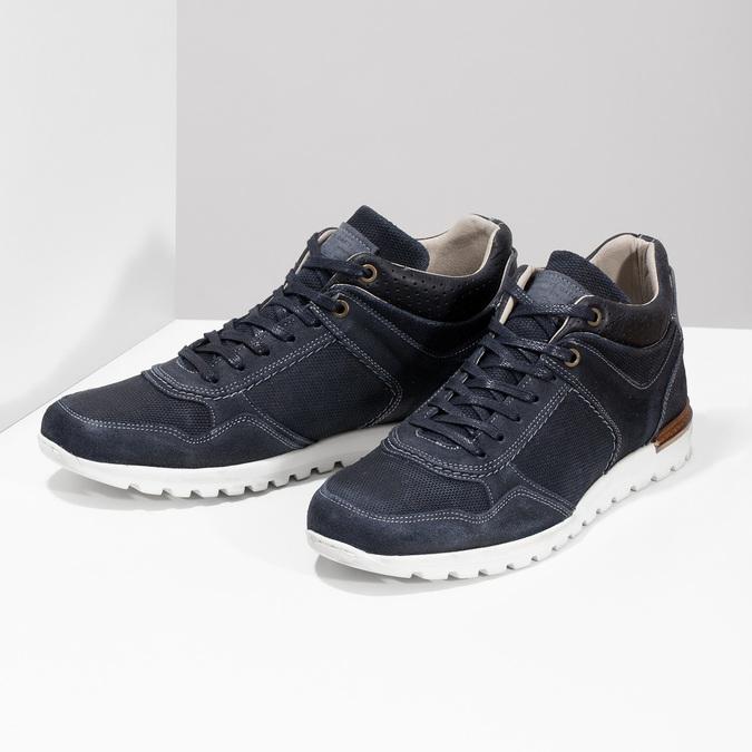 Tmavomodré kožené tenisky bata, modrá, 846-9717 - 16