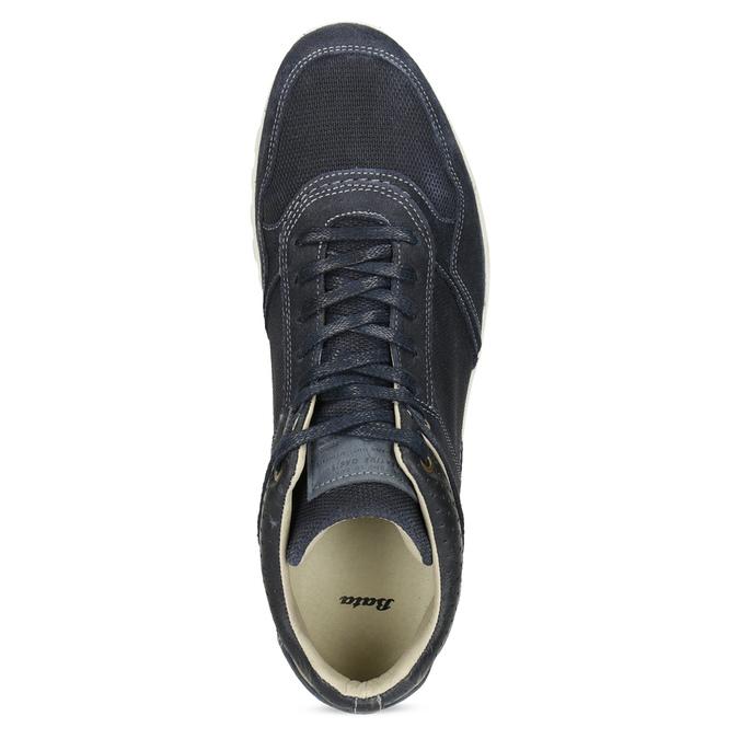 Tmavomodré kožené tenisky bata, modrá, 846-9717 - 17