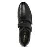 Pánske kožené tenisky na suchý zips geox, čierna, 814-6086 - 17
