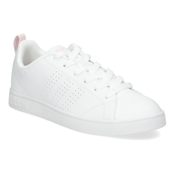 Biele dámske tenisky s perforáciou adidas, biela, 501-1800 - 13