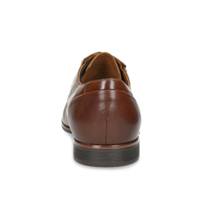 Hnedé kožené derby poltopánky conhpol, hnedá, 826-3509 - 15