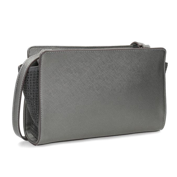 Crossbody kabelka s kamienkami bata, šedá, 961-1885 - 13