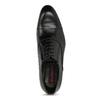 Čierne pánske kožené Oxford poltopánky conhpol, čierna, 824-6645 - 17