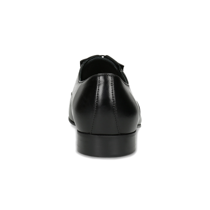 Čierne pánske kožené Oxford poltopánky conhpol, čierna, 824-6645 - 15