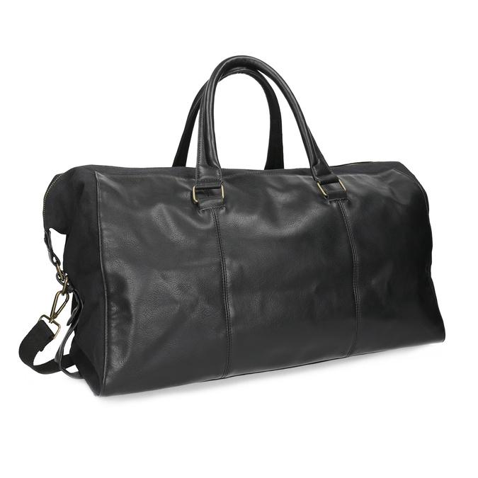 Pánska čierna taška s popruhom bata, čierna, 969-6230 - 13