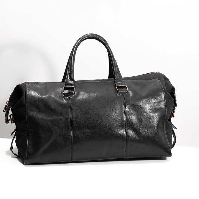 Pánska čierna taška s popruhom bata, čierna, 969-6230 - 17