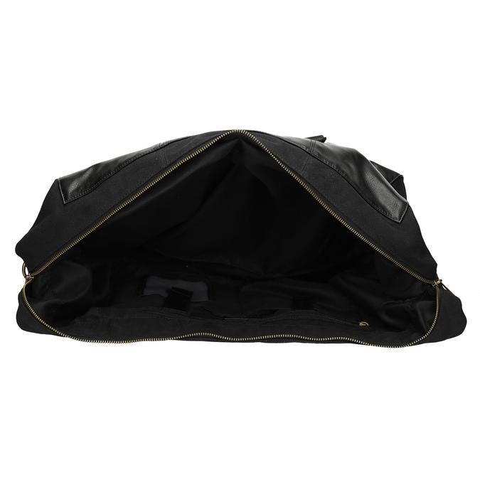 Pánska čierna taška s popruhom bata, čierna, 969-6230 - 15