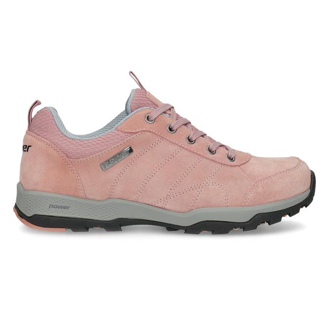 Ružové dámske kožené tenisky power, ružová, 503-5146 - 19